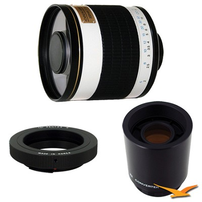 ED500M - 500mm f/6.3 Multi-Coated ED Mirror Lens for Pentax with 2x Multiplier