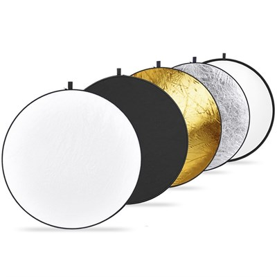 23-inch / 60cm 5-in-1 Collapsible Multi-Disc Light Reflector for Pro Photo Flash