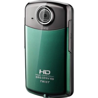 DXG-599V Twist 1080p Green Pocket Camcorder