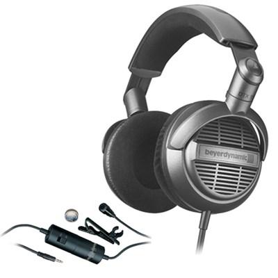 DTX 910 Hifi Open Headphones Silver/Black 713821 with Audio-Technica Microphone