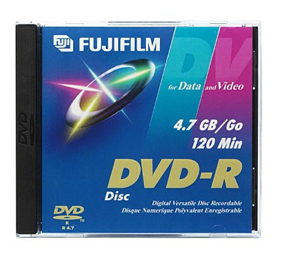 DVD-R Discs for Video and Data - 120 Minutes/4.7 GB