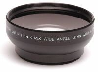 Professional .45X Wide Angle Lens w/ Macro - for 37mm threading Black