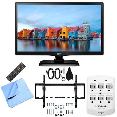 28LF4520 - 28-Inch HD 720p 60Hz LED TV Tilt Mount & Hook-Up Bundle