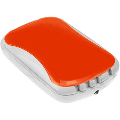 9,000mAh USB Power Bank with Built-in Flashlight (Orange)