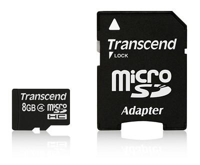 8 GB Class 4 microSDHC Memory Card