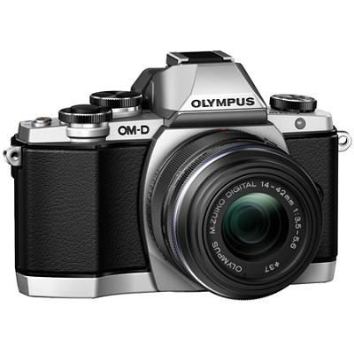 OM-D E-M10 Mirrorless Micro Four Thirds Digital Camera w 14-42mm 2RK Lens Silver