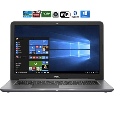 i5767-6370GRY Inspiron 17.3` FHD i7-7500U 16GB Laptop, Gray - Refurbished