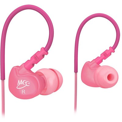 M6 Sports In-Ear Headphones (Pink)