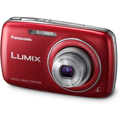 Lumix DMC-S3 14MP Compact Red Digital Camera w/ 720p HD - OPEN BOX