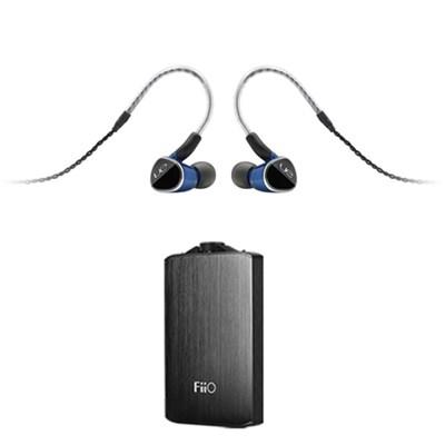 Universal Fit Earphones w/ FiiO A3 Portable Headphone Amplifier (Silver)