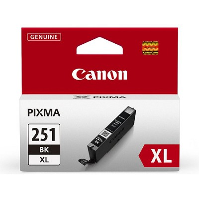 CLI-251 Black XL Ink Tank for PIXMA iP7220, MG5420, MG6620 Printers