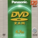 Three-pack of 4.7GB DVD-RAM RW Discs