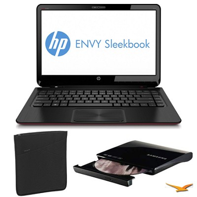 ENVY 15.6` 6-1014nr Sleekbook PC, Slipcase and DVD Writer Bundle