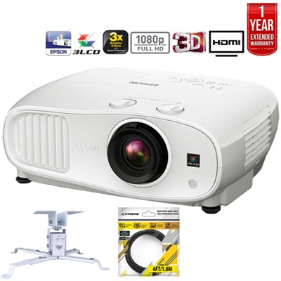 Home Cinema 3000 3D 3LCD Theater Projector + Refurbished Extended Warranty Pack
