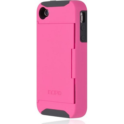 Stowaway Credit Card Case for iPhone 4/4S - Pink/Gray