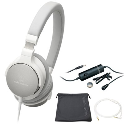 On-Ear High-Resolution Audio Headphones White ATH-SR5WH with Microphone