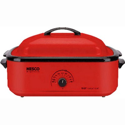 Classic Roaster Oven, 18-Quart, Porcelain Cookwell - Red (4818-12)