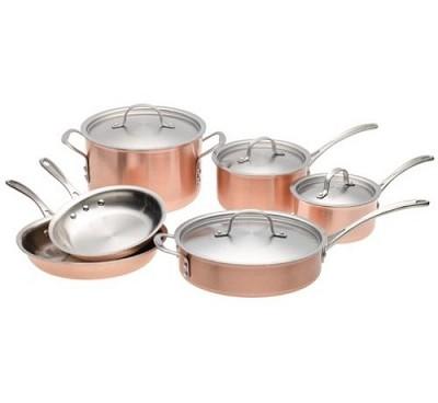 Tri-Ply Copper 10-pc. Cookware Set - T10