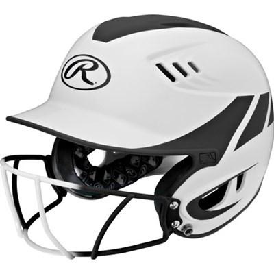 Velo Series Senior 2-Tone Home Softball Batting Helmet w/Face Guard