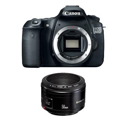 EOS 60D SLR Digital Camera with EF 50mm F/1.8 II Standard Auto Focus Lens