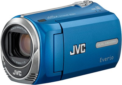 Everio GZ-MS230A Camcorder w/ 8GB Built-in Flash Memory & SD/SDHC Card Slot Blue