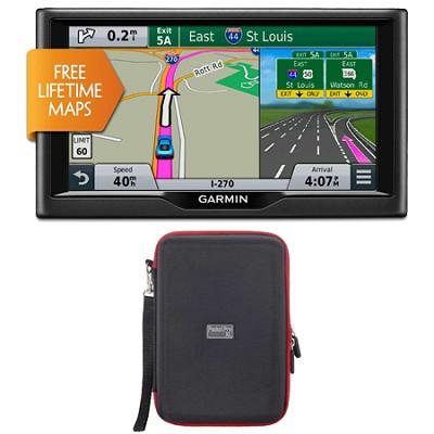 nuvi 68LM 6` Essential Series 2015 GPS System w/ Lifetime Maps Case Bundle