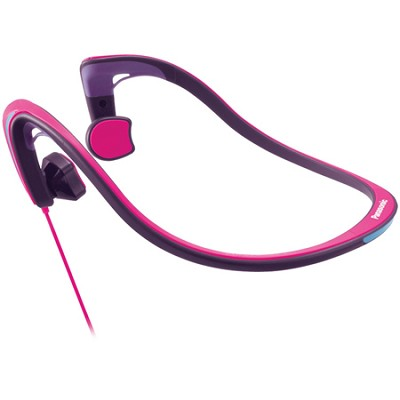 Open-Ear Bone Conduction Headphones with Reflective Design, Pink