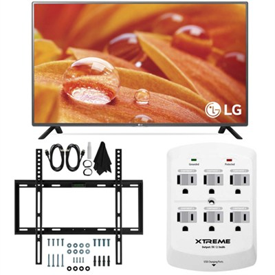 32LF595B - 32-Inch 720p LED HD Smart TV w/webOS 2.0 Slim Flat Wall Mount Bundle