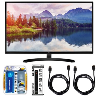 32` Screen LED-lit Monitor w/ Accessory Hook up Bundle