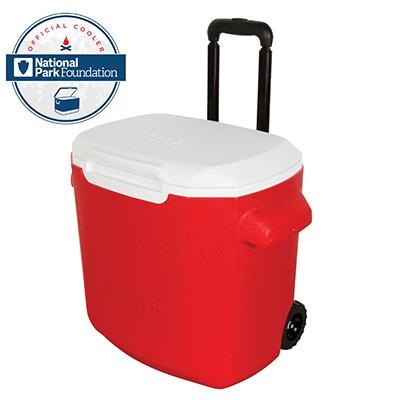 28 qt WHLD Red Wht Wht Cooler