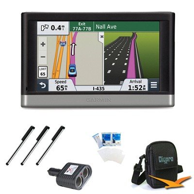 nuvi 2497LMT 4.3` GPS with Lifetime Maps and Traffic Updates Essentials Bundle