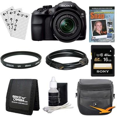 a3000 Interchangeable Lens Digital 20.1MP Camera Starter Bundle