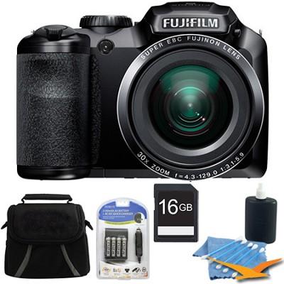 FinePix S4200 24x Optical Zoom 14 MP 3 inch LCD Digital Camera 16 GB Bundle