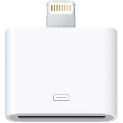 Lightning to 30-Pin Adapter for iPhone iPad iPod w/ Lightning Connector MD823ZMA