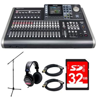 24-Track Portable Digital Recording Studio DP-24SD w/ 32GB Deluxe Bundle