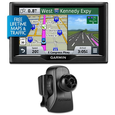 nuvi 58LMT 5` Essential Series 2015 GPS System Maps & Traffic Vent Mount Bundle