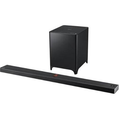 HW-F850 - 2.1-ch Vacuum Tube Soundbar w/ Wireless Subwoofer & Bluetooth