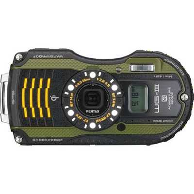 WG-3 16MP Green GPS-Enabled Waterproof Shockproof Crushproof Digital Camera