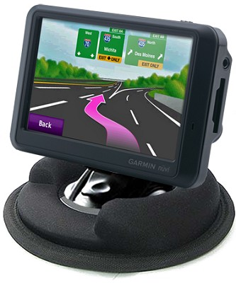 Universal Dashboard Mount For GPS / Weighted, Anti-Skid Base/ Leaves No Telltale