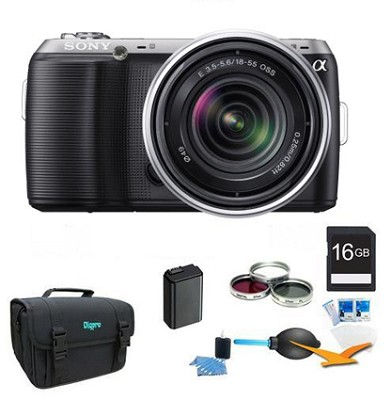 Alpha NEX-C3 Interchangeable Lens Black Digital SLR w/ 18-55mm ULTIMATE Bundle