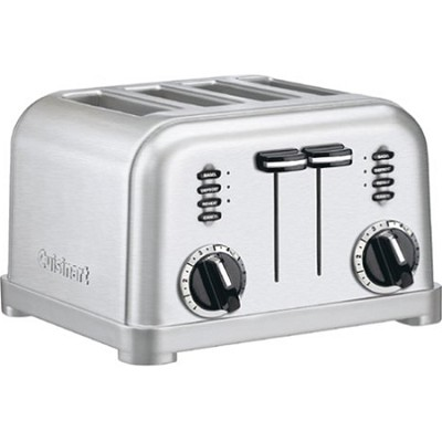 CPT-180 4-Slice Metal Classic Toaster - Brushed Stainless - Factory Refurbished