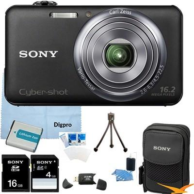 DSC-WX70/B - 16.2MP Exmor R CMOS Camera 3.0` LCD 5x Zoom (Black) 16GB Bundle