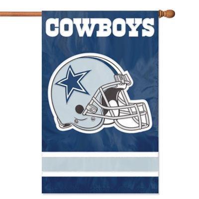 Cowboys Helmet Applique Banner