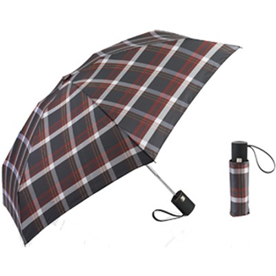 T-Tech Mini Travel Umbrella, Plaid