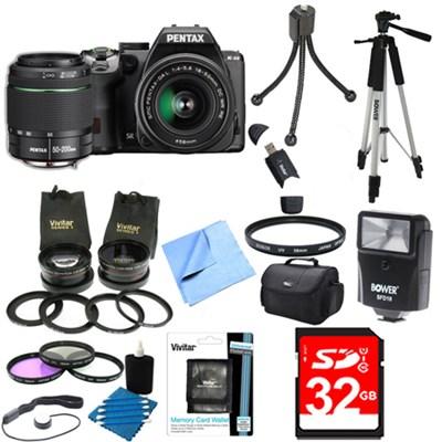 K-S2 20MP DSLR Camera Two Lens Kit w/ 18-50mm WR & 50-200mm WR Ultimate Bundle