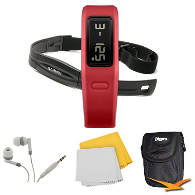 Vivofit Fitness Band w/ Heart Rate Monitor (Red) (010-01225-38) Bundle