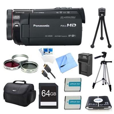 HC-X920K 3MOS Ultrafine Wi-Fi HD Camcorder 64GB Bundle