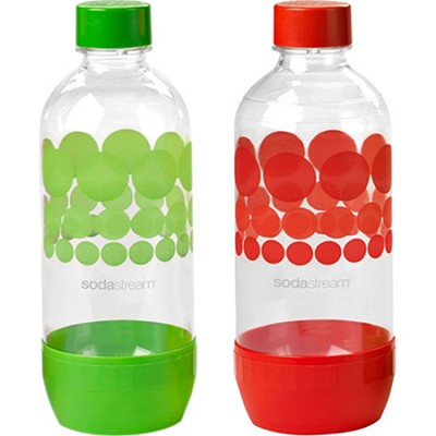 sodastream 1l carbonating bottles green red. Black Bedroom Furniture Sets. Home Design Ideas