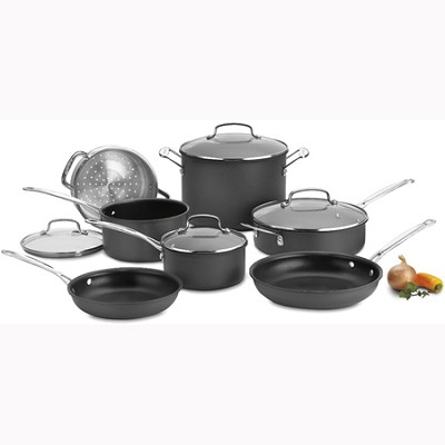 Chef's Classic Nonstick Hard-Anodized 11-Piece Cookware Set - 66-11