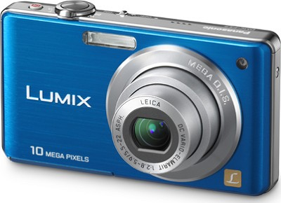 DMC-FS7A LUMIX 10.1 MP Compact Digital Camera w/ 4x Optical Zoom (Blue)